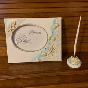 Personalized Beach Theme Guest Book Pen Set